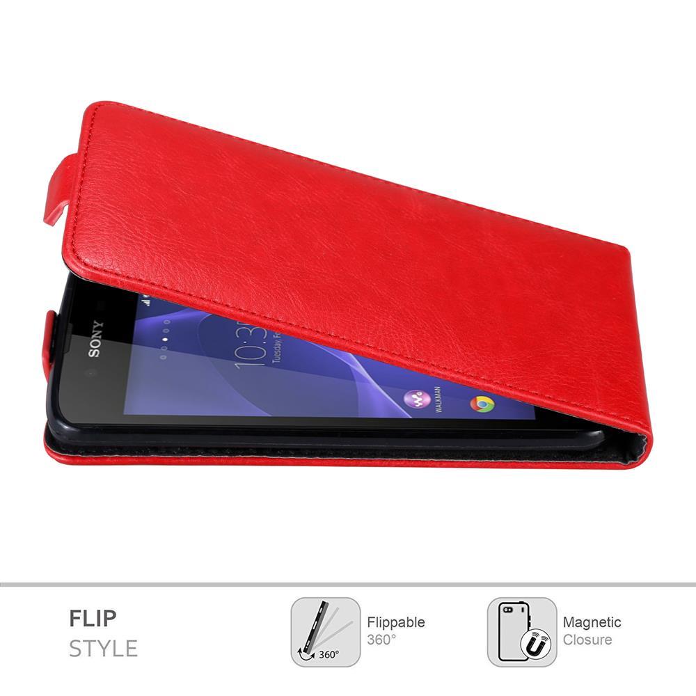 Custodia-per-Sony-Xperia-E3-FLIP-Cover-Protezione-Case-Conchiglia miniatura 6