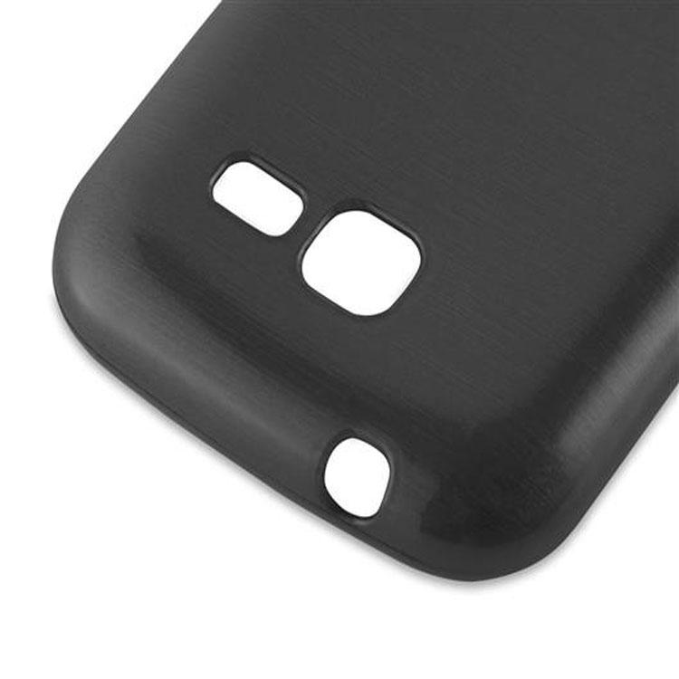 Custodia-Cover-Silicone-per-Samsung-Galaxy-TREND-LITE-TPU-Case-Effetto-Acciaio miniatura 8