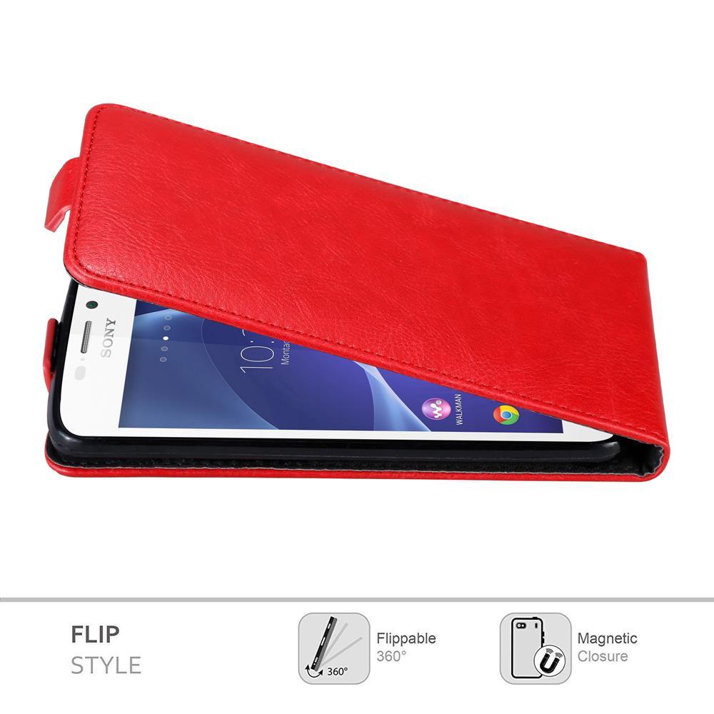 Custodia-per-Sony-Xperia-M2-M2-AQUA-FLIP-Cover-Protezione-Case-Conchiglia miniatura 6