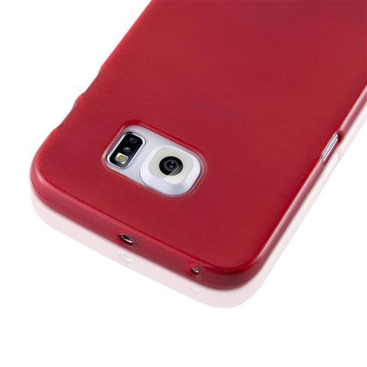 Custodia-Cover-Silicone-per-Samsung-Galaxy-S6-EDGE-TPU-Case-Effetto-Acciaio miniatura 22
