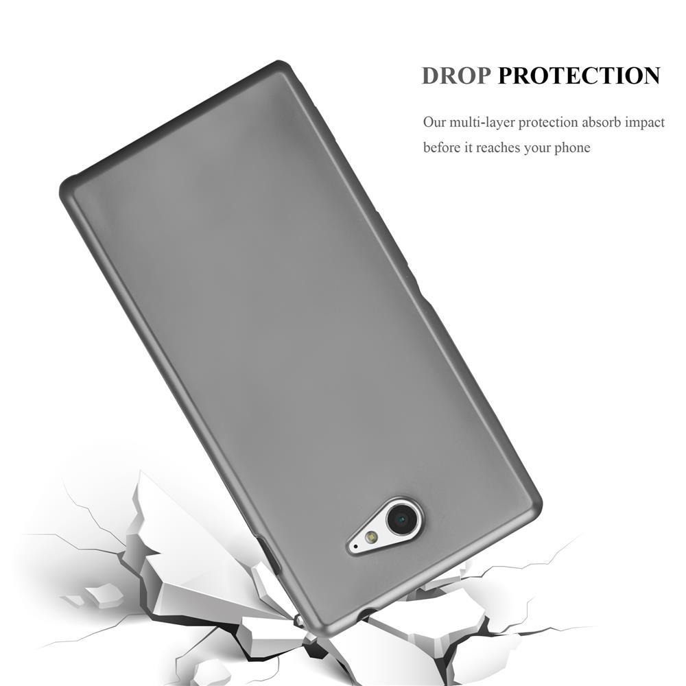 Custodia-Cover-Silicone-per-Sony-Xperia-M2-M2-Aqua-TPU-Case-Metallico-Opaco miniatura 17
