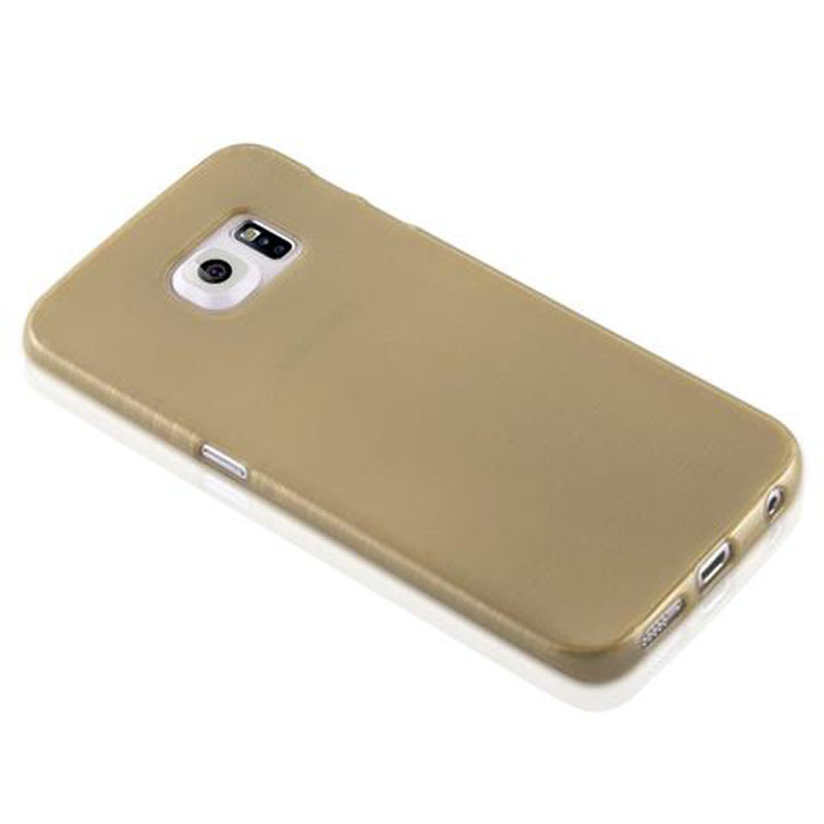 Custodia-Cover-Silicone-per-Samsung-Galaxy-S6-EDGE-TPU-Case-Effetto-Acciaio miniatura 32