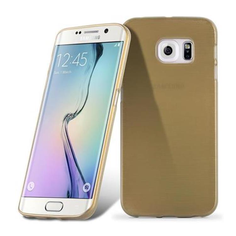 Custodia-Cover-Silicone-per-Samsung-Galaxy-S6-EDGE-TPU-Case-Effetto-Acciaio miniatura 33