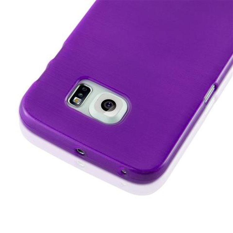 Custodia-Cover-Silicone-per-Samsung-Galaxy-S6-EDGE-TPU-Case-Effetto-Acciaio miniatura 35