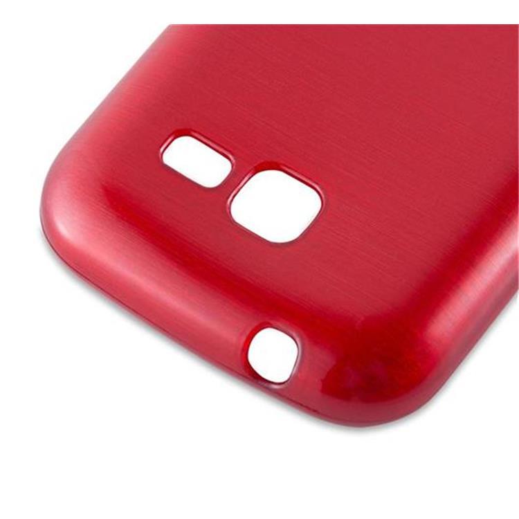 Custodia-Cover-Silicone-per-Samsung-Galaxy-TREND-LITE-TPU-Case-Effetto-Acciaio miniatura 24