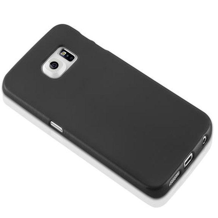 Custodia-Cover-Silicone-per-Samsung-Galaxy-S6-EDGE-TPU-Case-Effetto-Acciaio miniatura 8