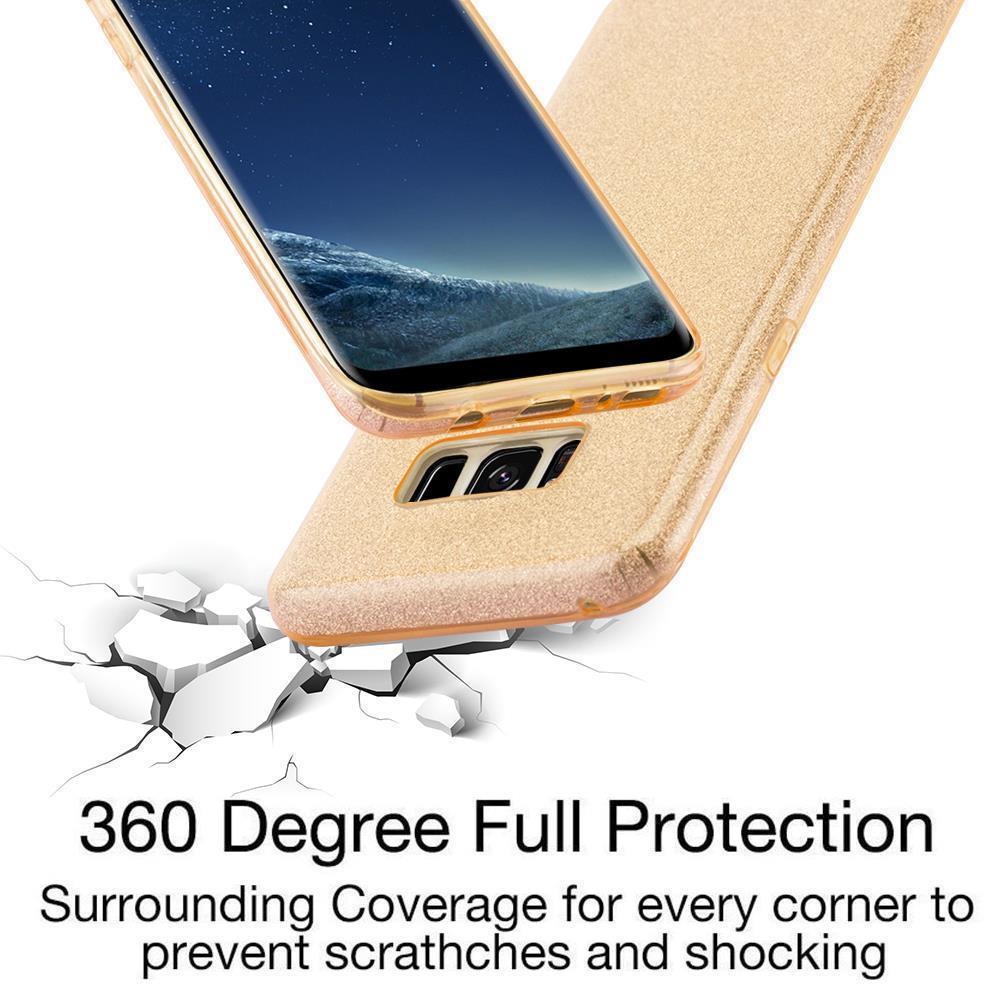 Custodia-Cover-Silicone-per-Samsung-Galaxy-S8-TPU-Case-Glitter miniatura 14