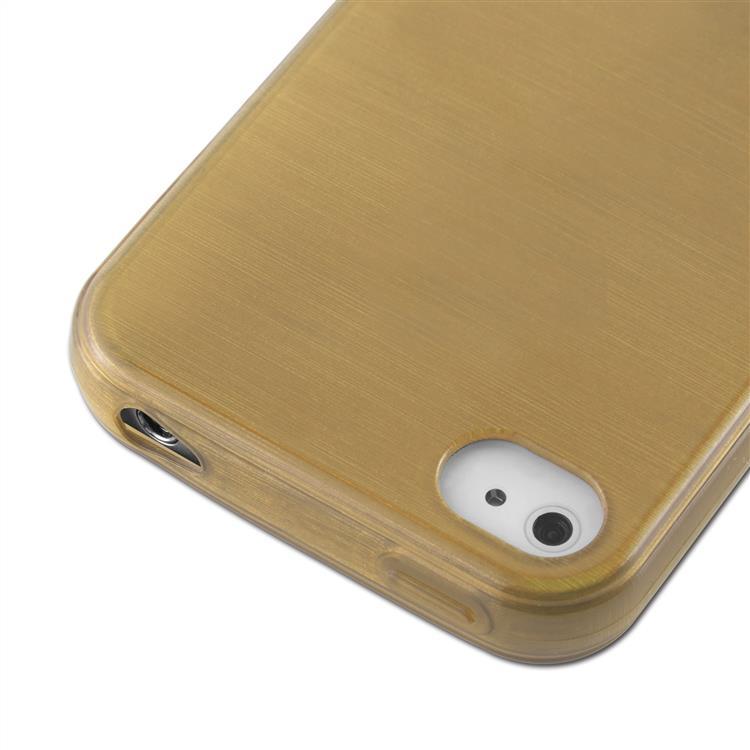 Custodia-Cover-Silicone-per-Apple-iPhone-4-4S-TPU-Case-Effetto-Acciaio miniatura 32