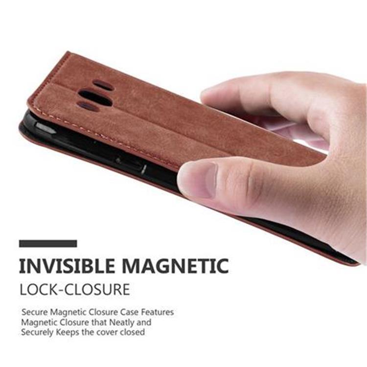 Custodia-per-Samsung-Galaxy-J7-2016-Portafoglio-Cover-Case-Magnetica-Libro miniatura 9