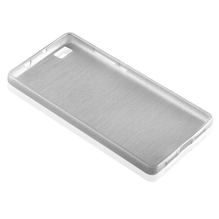 Custodia-Cover-Silicone-per-Huawei-P8-LITE-2015-TPU-Case-Effetto-Acciaio miniatura 13