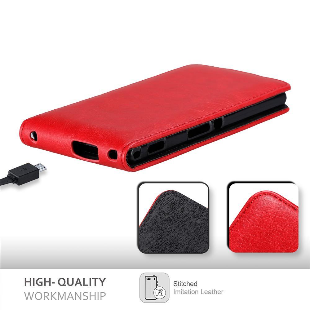 Custodia-per-Sony-Xperia-M2-M2-AQUA-FLIP-Cover-Protezione-Case-Conchiglia miniatura 9
