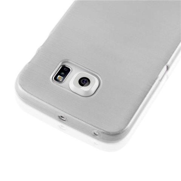 Custodia-Cover-Silicone-per-Samsung-Galaxy-S6-EDGE-TPU-Case-Effetto-Acciaio miniatura 10