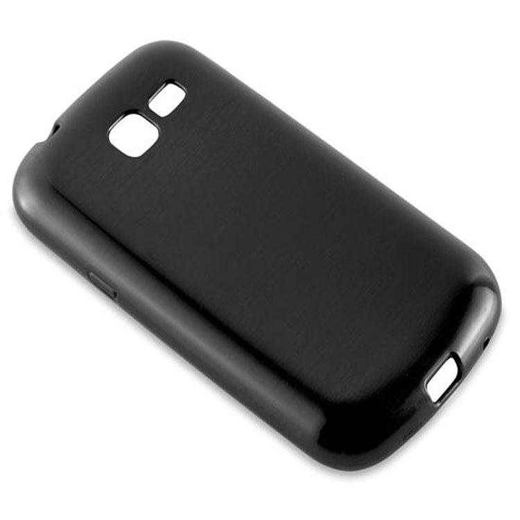 Custodia-Cover-Silicone-per-Samsung-Galaxy-TREND-LITE-TPU-Case-Effetto-Acciaio miniatura 6