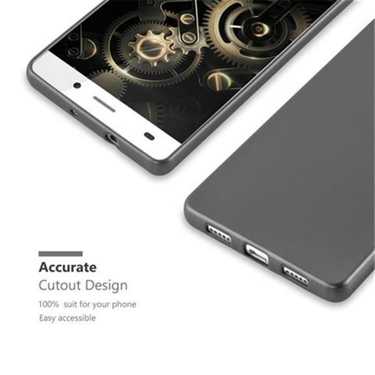 Custodia-Cover-Silicone-per-Huawei-P8-LITE-2015-TPU-Case-Metallico-Opaco miniatura 24