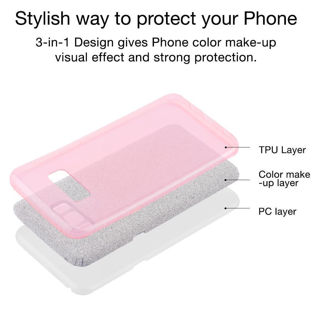 Custodia-Cover-Silicone-per-Samsung-Galaxy-S8-TPU-Case-Glitter miniatura 10