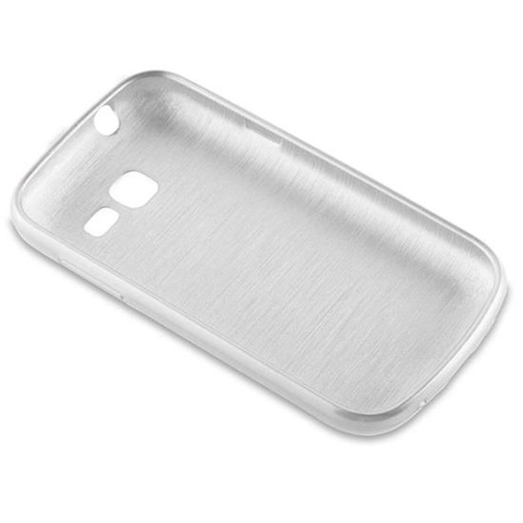 Custodia-Cover-Silicone-per-Samsung-Galaxy-TREND-LITE-TPU-Case-Effetto-Acciaio miniatura 11