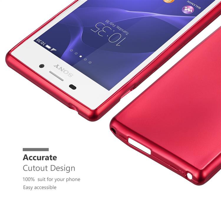 Custodia-Cover-Silicone-per-Sony-Xperia-M2-M2-Aqua-TPU-Case-Metallico-Opaco miniatura 14