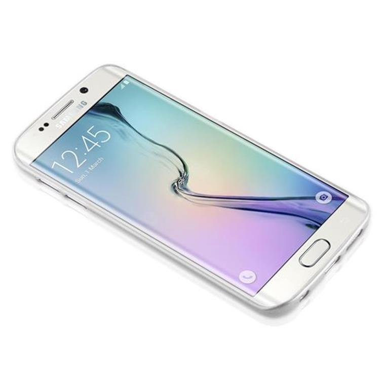 Custodia-Cover-Silicone-per-Samsung-Galaxy-S6-EDGE-TPU-Case-Effetto-Acciaio miniatura 11