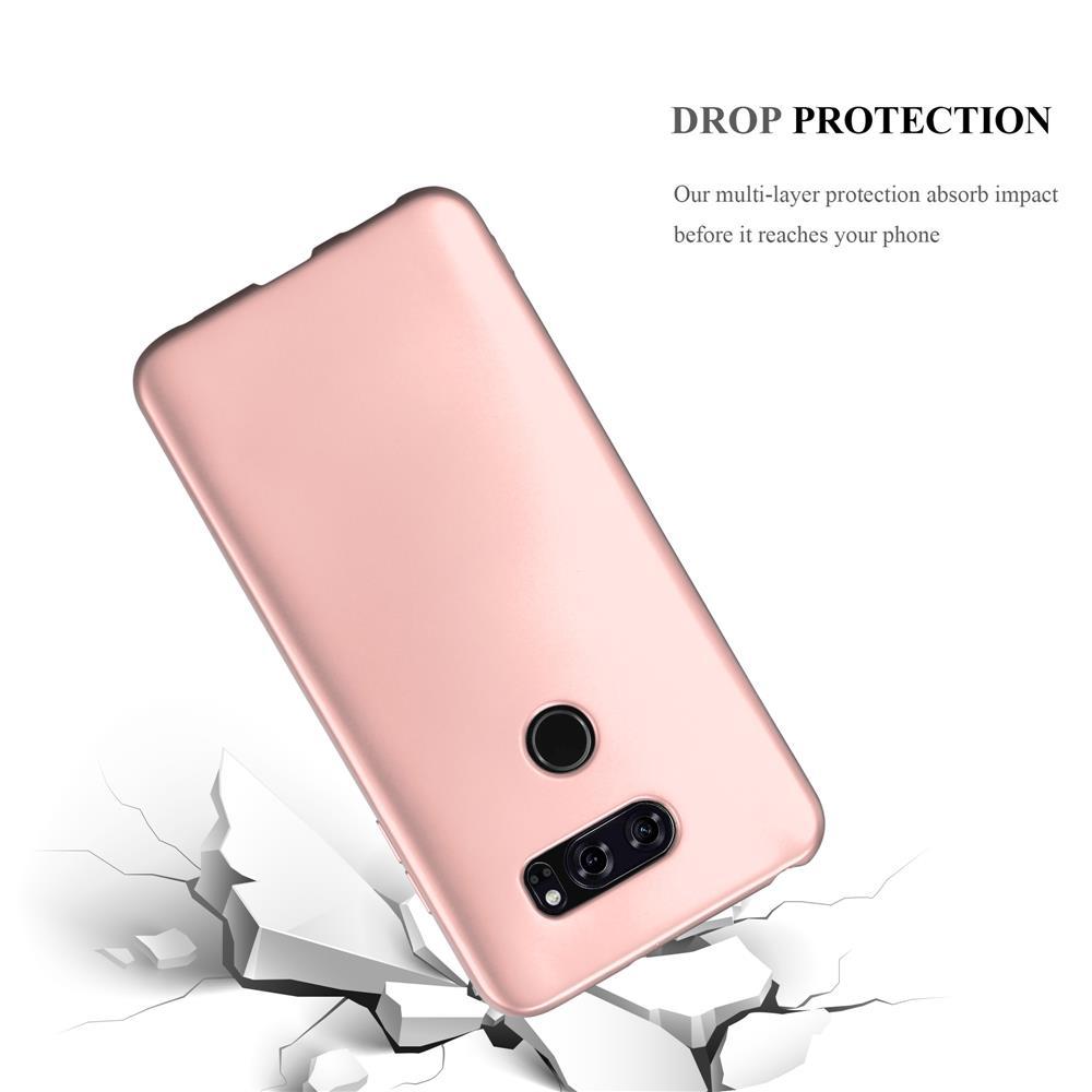Custodia-Cover-Silicone-per-LG-V30-TPU-Case-Metallico-Opaco miniatura 27