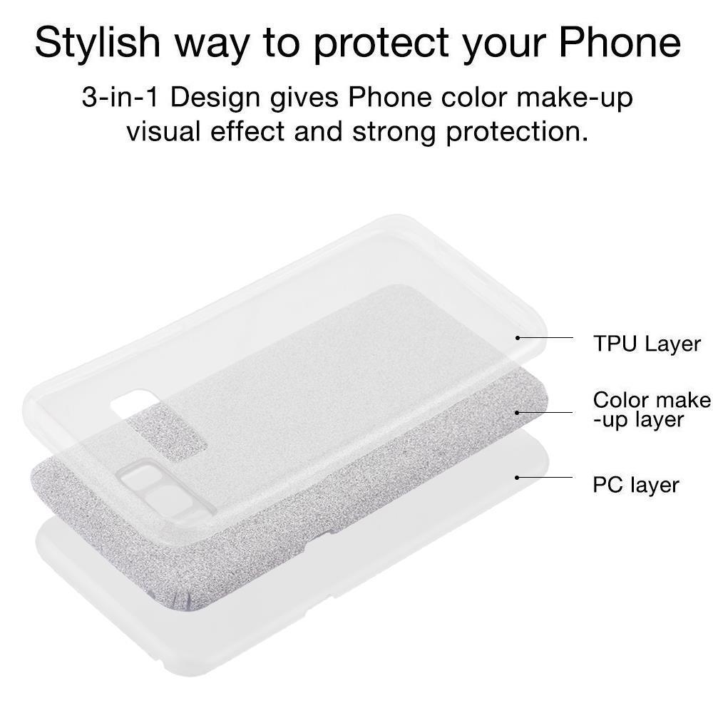 Custodia-Cover-Silicone-per-Samsung-Galaxy-S8-TPU-Case-Glitter miniatura 28