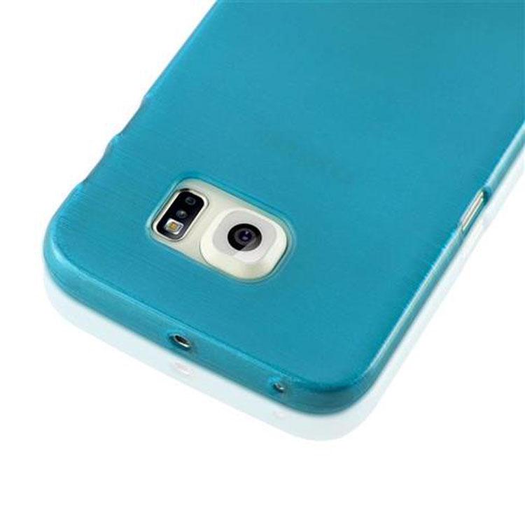 Custodia-Cover-Silicone-per-Samsung-Galaxy-S6-EDGE-TPU-Case-Effetto-Acciaio miniatura 16