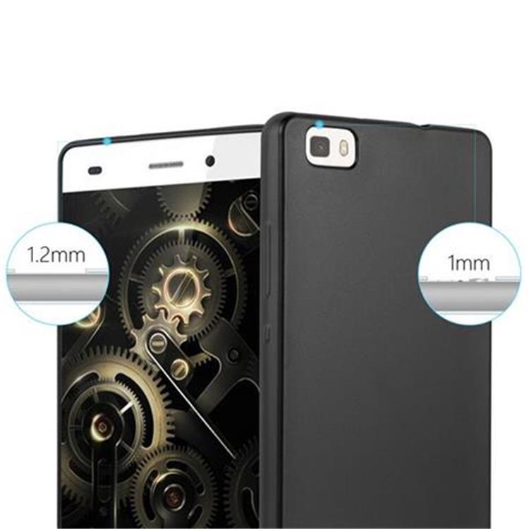 Custodia-Cover-Silicone-per-Huawei-P8-LITE-2015-TPU-Case-Metallico-Opaco miniatura 10