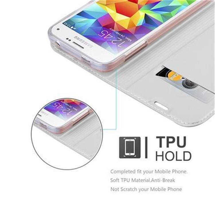 Custodia-Cover-per-Samsung-Galaxy-S5-MINI-DUOS-Metallico-Case-Libro-Portafoglio miniatura 22