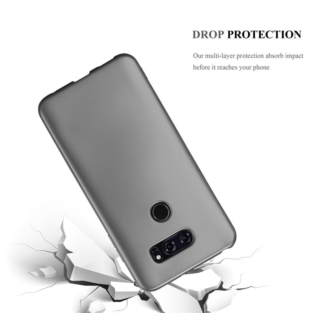 Custodia-Cover-Silicone-per-LG-V30-TPU-Case-Metallico-Opaco miniatura 17