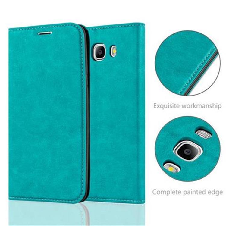 Custodia-per-Samsung-Galaxy-J7-2016-Portafoglio-Cover-Case-Magnetica-Libro miniatura 18