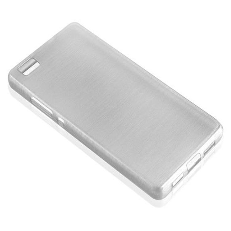 Custodia-Cover-Silicone-per-Huawei-P8-LITE-2015-TPU-Case-Effetto-Acciaio miniatura 14