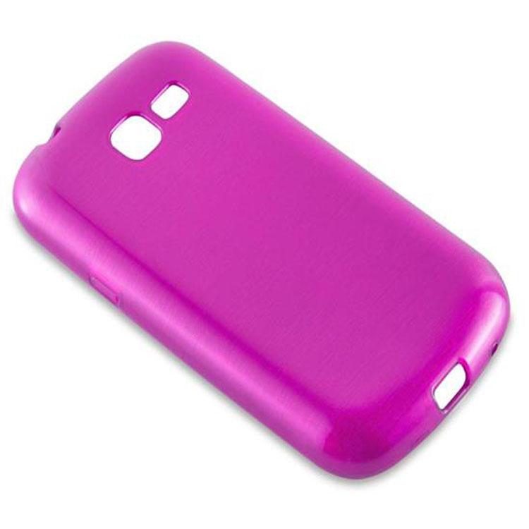 Custodia-Cover-Silicone-per-Samsung-Galaxy-TREND-LITE-TPU-Case-Effetto-Acciaio miniatura 18
