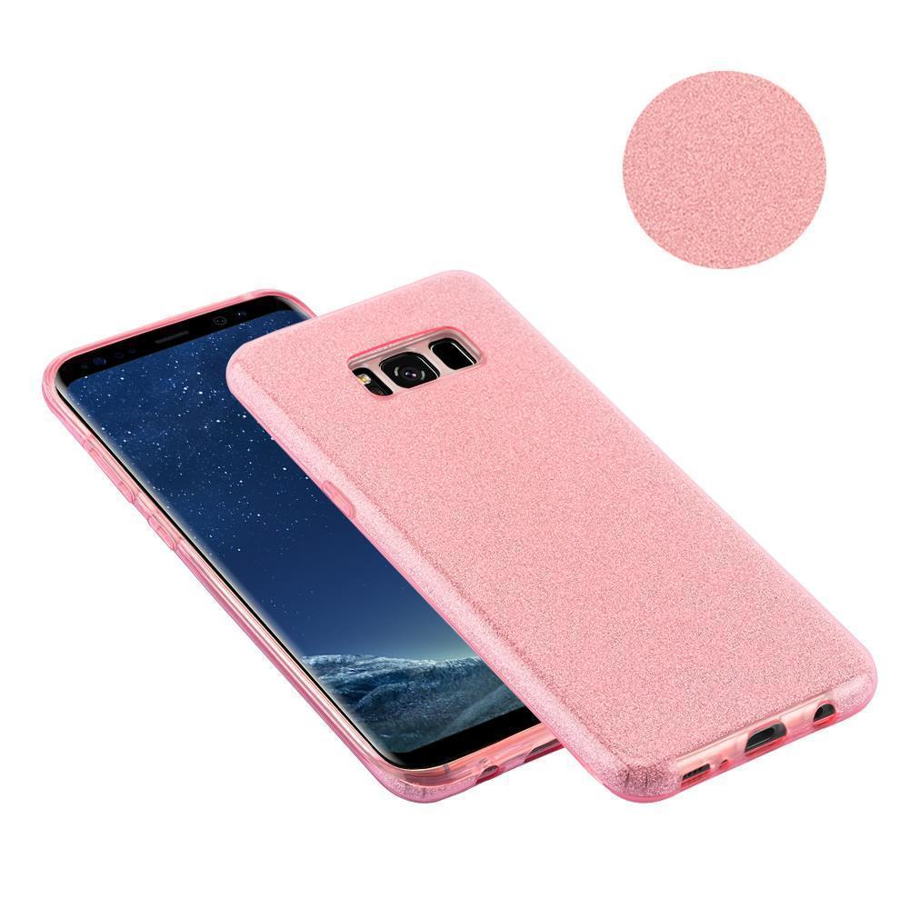 Custodia-Cover-Silicone-per-Samsung-Galaxy-S8-TPU-Case-Glitter miniatura 9