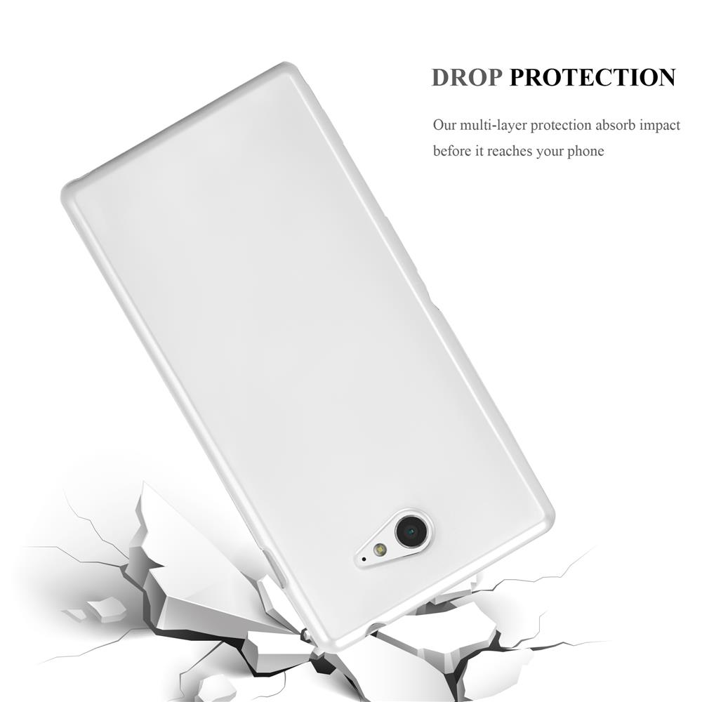 Custodia-Cover-Silicone-per-Sony-Xperia-M2-M2-Aqua-TPU-Case-Metallico-Opaco miniatura 32