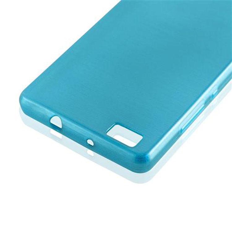 Custodia-Cover-Silicone-per-Huawei-P8-LITE-2015-TPU-Case-Effetto-Acciaio miniatura 18