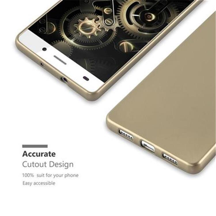 Custodia-Cover-Silicone-per-Huawei-P8-LITE-2015-TPU-Case-Metallico-Opaco miniatura 18
