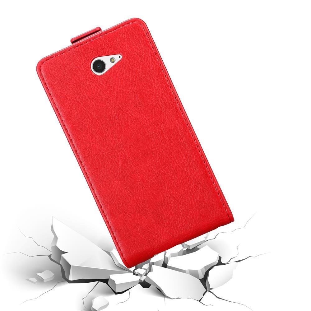 Custodia-per-Sony-Xperia-M2-M2-AQUA-FLIP-Cover-Protezione-Case-Conchiglia miniatura 8