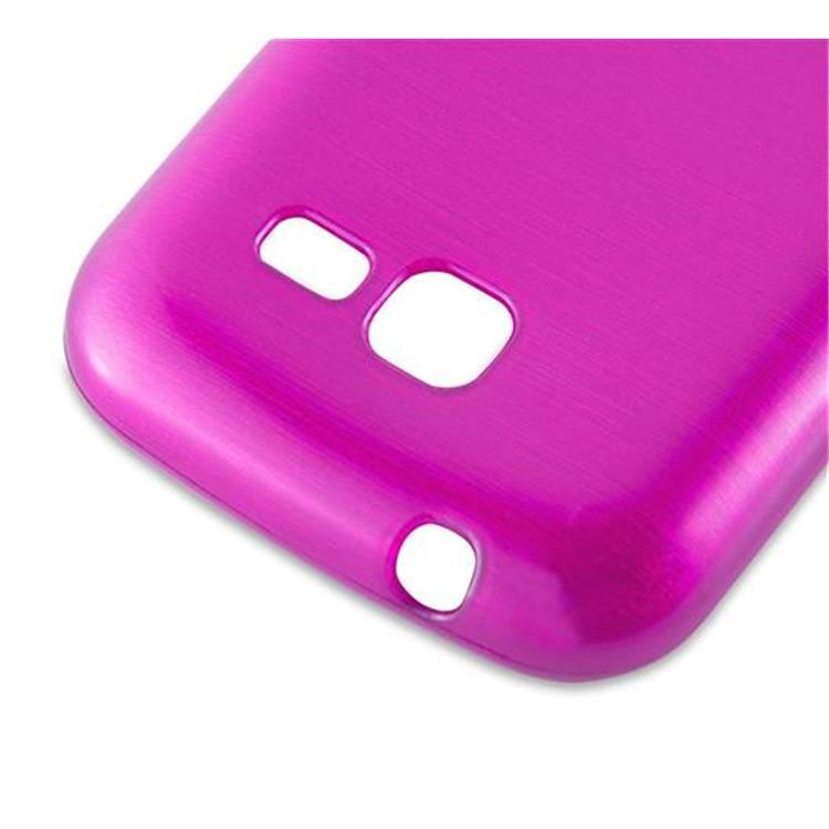 Custodia-Cover-Silicone-per-Samsung-Galaxy-TREND-LITE-TPU-Case-Effetto-Acciaio miniatura 20