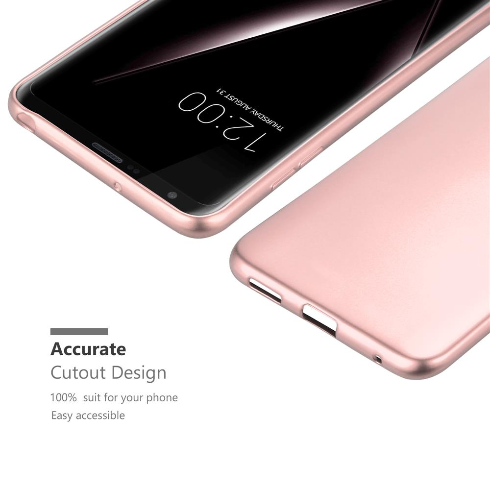 Custodia-Cover-Silicone-per-LG-V30-TPU-Case-Metallico-Opaco miniatura 29