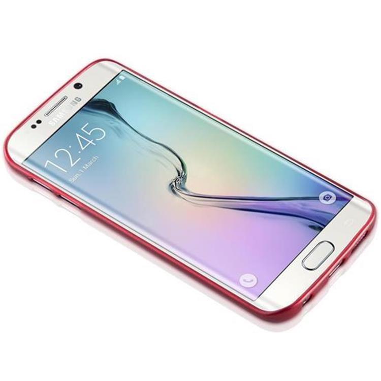 Custodia-Cover-Silicone-per-Samsung-Galaxy-S6-EDGE-TPU-Case-Effetto-Acciaio miniatura 23
