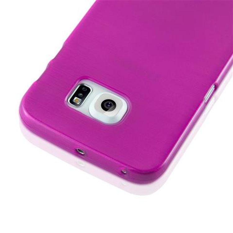 Custodia-Cover-Silicone-per-Samsung-Galaxy-S6-EDGE-TPU-Case-Effetto-Acciaio miniatura 18
