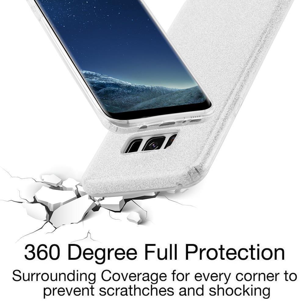Custodia-Cover-Silicone-per-Samsung-Galaxy-S8-TPU-Case-Glitter miniatura 26