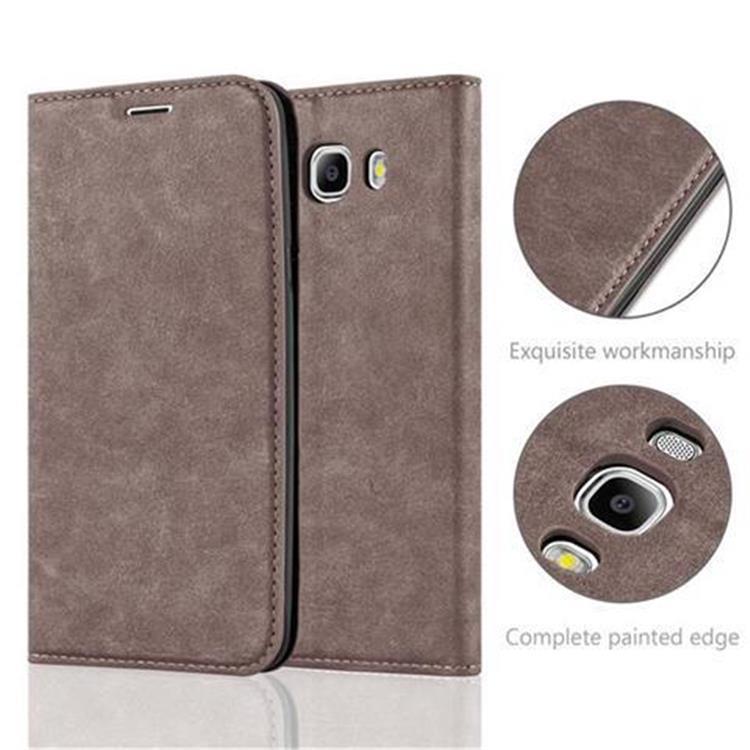 Custodia-per-Samsung-Galaxy-J7-2016-Portafoglio-Cover-Case-Magnetica-Libro miniatura 12