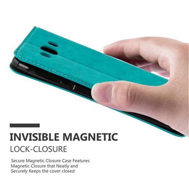 Custodia-per-Samsung-Galaxy-J7-2016-Portafoglio-Cover-Case-Magnetica-Libro miniatura 21