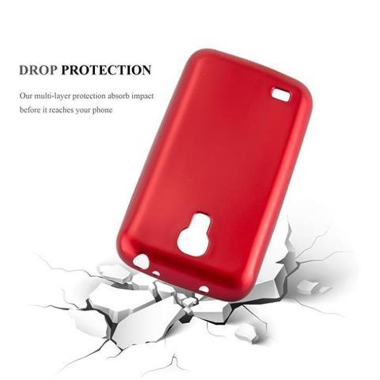 Custodia-Cover-Silicone-per-Samsung-Galaxy-S4-TPU-Case-Metallico-Opaco miniatura 13