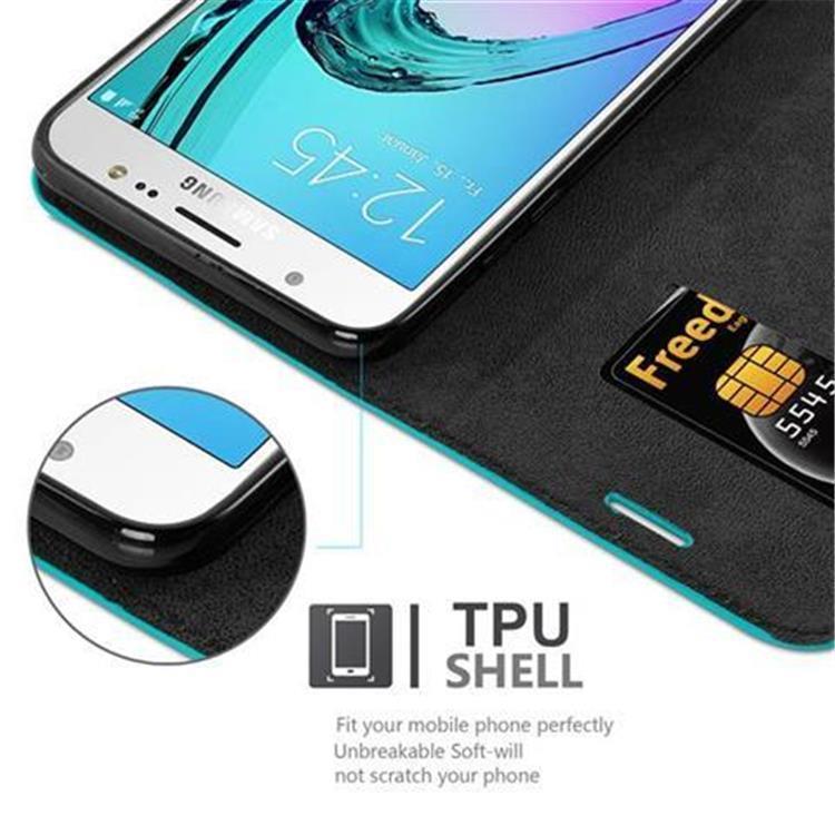 Custodia-per-Samsung-Galaxy-J7-2016-Portafoglio-Cover-Case-Magnetica-Libro miniatura 19
