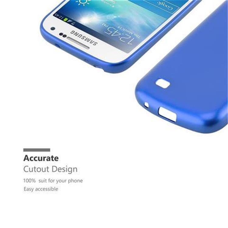 Custodia-Cover-Silicone-per-Samsung-Galaxy-S4-TPU-Case-Metallico-Opaco miniatura 18