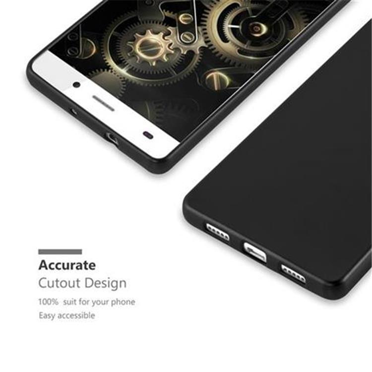 Custodia-Cover-Silicone-per-Huawei-P8-LITE-2015-TPU-Case-Metallico-Opaco miniatura 6