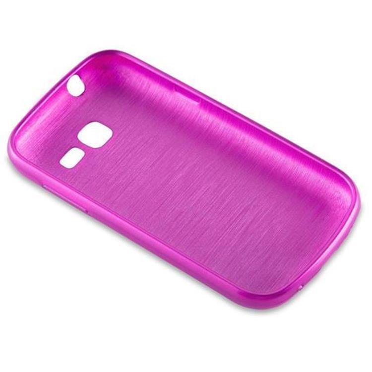 Custodia-Cover-Silicone-per-Samsung-Galaxy-TREND-LITE-TPU-Case-Effetto-Acciaio miniatura 19