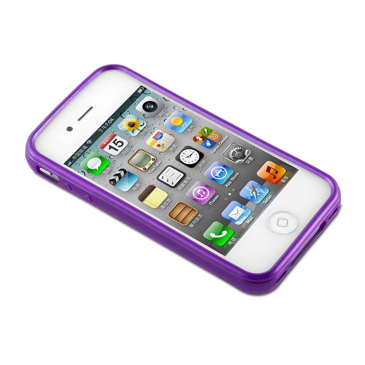Custodia-Cover-Silicone-per-Apple-iPhone-4-4S-TPU-Case-Effetto-Acciaio miniatura 34
