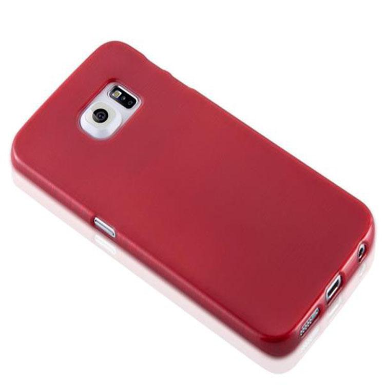Custodia-Cover-Silicone-per-Samsung-Galaxy-S6-EDGE-TPU-Case-Effetto-Acciaio miniatura 24